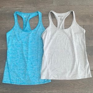 Ideology Workout Tanks in Blue and Gray